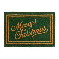 PRODUCTS | Christmas Welcome Mats - Balsam Hill Christmas Script Coco Welcome Mat