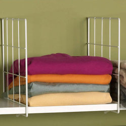 White Wire Shelf Dividers