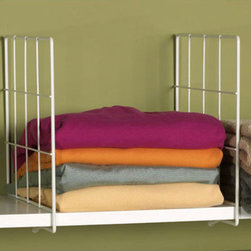 White Wire Shelf Dividers - No more leaning tower of sweaters! Brilliant!