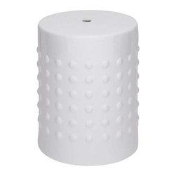 """Benzara - Compact and Portable Ceramic Stool For Outdoor and Indoor Decor - Compact and Portable Ceramic Stool For Outdoor and Indoor Decor. This ceramic stool is available in a simple yet exotic design which makes your home look sophisticated and exquisite. It comes with a dimension of 18"""" high. Some assembly may be required."""
