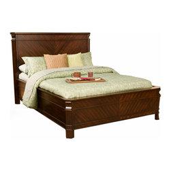 Alpine Furniture - Windsor Queen Panel Bed in Cherry - Windsor Queen Panel Bed in Cherry