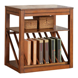 Steve Silver - Jameson Chairside End Table Oak - The Jameson chairside end table is the perfect addition for a small area with a need for functional and beautiful storage. Use this table to display books, boxes, or decorative additions. Pull-out platforms add marginal space if more room becomes necessary. Choose either the cherry or oak finish!