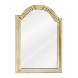 "Hardware Resources - Elements Bathroom Mirror - Buttercream Compton Mirror by Bath Elements. 22"" x 30"" buttercream reed-frame mirror with beveled glass. Corresponds with VAN028E, VAN028-48E, VAN028D-60E"