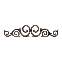 Hardware Resources - Traditional Metal Onlays - 25In. x 5-3/8In. x 1/2In. Metal (Iron) Onlay. Finish: Dark Brushed Antique Copper. Mounting Screws (#8x3/4In.) Included