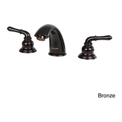 Dyconn Faucet - Dyconn Faucet Trinity Modern 3-hole Bathroom Faucet with Overflow Pop-up Drain A - Update home decor with Trinity with an oil-rubbed bronze or brushed nickel finish bathroom faucet with pop-up drain assembly. Whether decor is traditional or modern,this styled faucet complements the home and adds a lavish,luxurious touch.