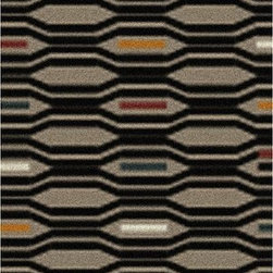 """Surya - Surya Transitional Mamba Stone  Coal Black 2'6""""x8' Runner Area Rug - The Mamba area rug Collection offers an affordable assortment of Transitional stylings. Mamba features a blend of natural Brindle  Bone color. Hand Tufted of 100% Polyester the Mamba Collection is an intriguing compliment to any decor."""