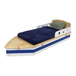 KidKraft Boat Toddler Bed - It's OK for the kids to rock the boat in this bed! It's perfect for kids who want to pretend they're sailing in the ocean, and at night, they can imagine the waves rocking them to sleep.