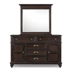 Magnussen Home Furnishings - Drawer Dresser with Landscape Mirror -