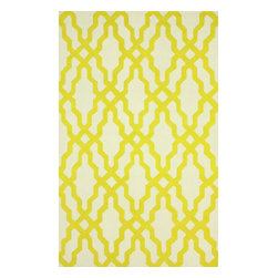 """nuLOOM - Contemporary 7' 6"""" x 9' 6"""" Gold Hand Hooked Area Rug Trellis HK78 - Made from the finest materials in the world and with the uttermost care, our rugs are a great addition to your home."""