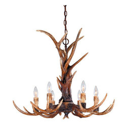 Savoy House - 6 Light Up Lighting Chandelier from the Blue Ridge Collection - Features: