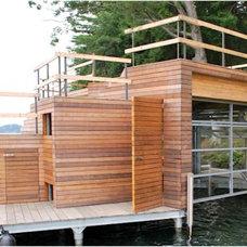 Modern Pool Boat House