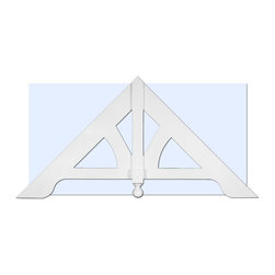 "Inviting Home - Newbury Victorian Gable - Victorian gable 70""W x 35""H x 2-3/4""D; pitch - 12/12 Victorian Gable Ornament: Adjustable Victorian gable ornament for home exterior.Outstanding durability gable ornament made of high density polyurethane. This gable ornament is durable and easy to install using common woodworking tools. Gable ornament can be finished with any quality paints."