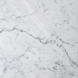 "marblesystems - White Carrara Polished Marble Tiles 18"" x 18"" x 3/8"" - Natural marble tile."