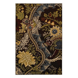 Mohawk Home - Mohawk Estate Eclectic Heirloom Brown Transitional 5'3 x 7'10 Rug (9720) - With vibrant, full of life, colors and a trendy whimsical design, this rug is a great way to liven up your space. Unsurpassed in quality and style without sacrificing affordability, Mohawk Home