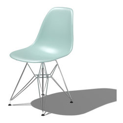 Herman Miller - Herman Miller Eames Molded Plastic Side Chair with Eiffel Tower Base - Herman Miller Eames Molded Plastic Side Chair with Eiffel Tower Base designed by Charles and Ray Eames