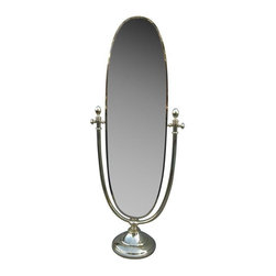 Pre-owned Vintage Italian Full Length Brass Standing Mirror - Check yourself out in this well made 1960's modern Italian brass standing mirror and everyday will be a good day. It would look fantastic in a hall, bathroom, bedroom, or dressing room of any style. This piece is in good vintage condition with some wear due to age and use.