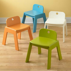 Kids Mojo Play Chairs - A sturdy chair that's just my son's size! Comes in a variety of colors, but I love the lime.