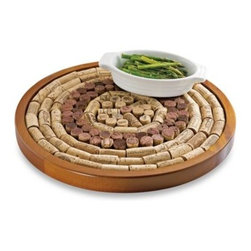 """Wine Enthusiast - Wine Enthusiast Round Wine Cork Board Kit - Wine Enthusiast Round Wine Cork Board Kit helps repurpose your corks and preserve your memories. Fill this kit with keepsake corks and enjoy """"memories of wines past"""" along with a handy board for protecting surfaces and furnishing walls!"""