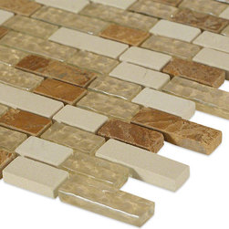 Sample- Alloy Golden Gate Sample - sample-ALLOY GOLDEN GATE 1/4 SHEET GLASS TILES SAMPLE  SAMPLE Samples are intended for color comparison purposes, not installation purposes.    -Glass Tiles -