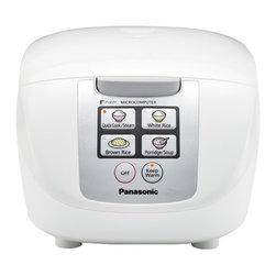 PANASONIC - Panasonic SRDF101 White Rice Cooker 5-Cup Fuzzy Logic 6 Menu - Panasonic SRDF101 White Rice Cooker 5Cup Fuzzy Logic 6 Menu