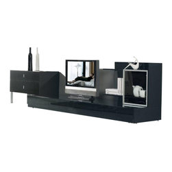 Vig Furniture Maryland Black Veneer Lacquer Entertainment Tv Center The Maryland