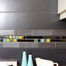 Modern Kitchen by Mercury Mosaics and Tile