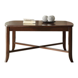 Office Star - INSPIRED by Bassett Bella Coffee Table & 2-Pack End Table in Truffle Finish - Coffee Table & 2-Pack End Table in Truffle Finish belongs to Bella Collection by Ave Six Series   Coffee Table (1), End Table (2)