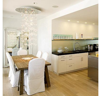 contemporary dining room by Mark English Architects, AIA