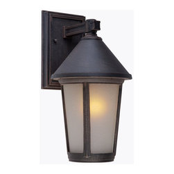 Artcraft Lighting - Artcraft Lighting AC8210RU Malibu Transitional Outdoor Wall Sconce - The Malibu Exterior Lighting Series, is transitional in design. The frame, backplate and screws are made out of high quality metals to eliminate the fear of corrosion and is backed by a 25 year warranty. Shown in Bronze and also available in black