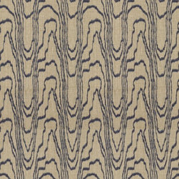 Groundworks - Agate - This Kelly Wearstler exclusive contemporary pattern for Groundworks is 100% heavy duty linen.