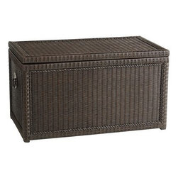 Lindi Trunk, Dark Brown - For those larger items, such as blankets and oversize pillows, use a trunk for storage.