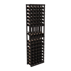 Wine Racks America - 5 Column Display Row Wine Cellar Kit in Redwood, Black - Make your best vintage the focal point of your wine cellar. Four of your best bottles are presented at 30° angles on a high-reveal display. Our wine cellar kits are constructed to industry-leading standards. Youll be satisfied with the quality. We guarantee it.