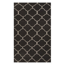 Jaipur Rugs - Jaipur Rugs Flat-Weave Moroccan Pattern Wool Black/Ivory Area Rug, 2 x 3ft - An array of simple flat weave designs in 100% wool - from simple modern geometrics to stripes and Ikats. Colors look modern and fresh and very contemporary.