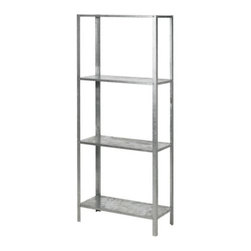 IKEA of Sweden - Hyllis Shelving Unit - This bookshelf is industrial and oh-so-affordable! I love how simple it is and how it's just waiting for my books and knickknacks to make it their new home.