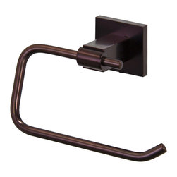 VIGO Industries - VIGO Allure Square Design Single Post Toilet Tissue Holder, Oil Rubbed Bronze - The VIGO Allure Square Design Single Post Toilet Tissue Holder in Oil Rubbed Bronze is a great accessory for any bathroom.
