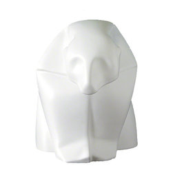 Origami Matte White Polar Bear Sculpture - Inspired by the ancient Japanese art of paper folding, this Origami Matte White Polar Bear Sculpture is hand-crafted from Portuguese ceramic. His subtle shape mimics the intricate but delicate folds of paper; a perfect decor accent to any home office, living room, or shelf.