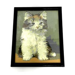 Vintage Paint by Numbers Kitten - Vintage Paint by Numbers Kitten