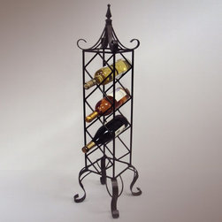 J & J Wire - J & J Wire Free Standing Wine Racks - Set of 2 Multicolor - BR1513 - Shop for Wine Bottle Holders and Racks from Hayneedle.com! For something that brings you so much joy the least you can do is make your favorite bottles of wine feel welcome in the J & J Wire Free Standing Wine Racks - Set of 2. Each wine rack stacks four bottles of wine vertically in diamond-shaped slots then adds an elegant roof and sturdy scrolled legs to create a cozy home for your wine. Proudly made in the USA from wrought iron with a custom bronze powder-coat finish these tall freestanding wine racks can be displayed on the counter or floor.About J & J Wire Inc.Located at the Industrial Park in Beatrice Nebraska J & J Wire Inc. started 25 years ago as a wire-forming business manufacturing mostly houseware items. Since then the company has grown into a metal fabrication business serving customers in many different manufacturing sectors in the United States and Canada. From quilt racks to wine racks J & J Wire is committed to creating handmade works of art at affordable prices.
