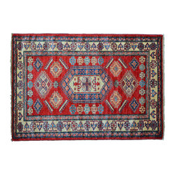 Oriental Rug, 100% Wool Tribal Design 3'X5' Fine Kazak Hand Knotted Rug SH11161 - This collections consists of well known classical southwestern designs like Kazaks, Serapis, Herizs, Mamluks, Kilims, and Bokaras. These tribal motifs are very popular down in the South and especially out west.