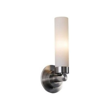 Cilandro 1 Light Wall Sconce by Et2 - Cilandro wall sconce has a white glass diffuser and satin nickel finish. Available in a 2 light wall sconce, a vantiy fixture, and a pendant version. One 60 watt 120 watt T10 incandescent lamp included. General light distribution. c/UL Listed.