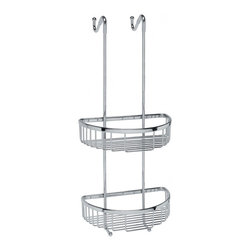 WS Bath Collections - Filo 50031 Shower Basket - Filo by WS Bath Collections Hanging Shower Basket 9.8 x 9.5 x 21.7 in Polished Chrome