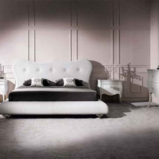Modern Beds Victoria Italian Leather Bed by Doimo