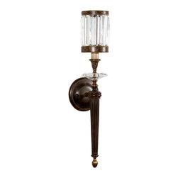 Fine Art Lamps - Fine Art Lamps 605750ST Eaton Place Brown Patina Wall Sconce - 1 Bulb, Bulb Type: 60 Watt Candelabra; Weight: 6lbs