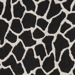 Black And White Giraffe Microfiber Stain Resistant Upholstery Fabric By The Yard - Microfiber fabric is the premier choice for indoor upholstery. This fabric is stain resistant, soft and incredibly durable. Plus it is easy to clean and made in America! Microfiber is excellent for residential, commercial and automotive upholstery.