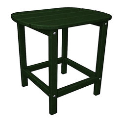 """Polywood - """"Polywood Outdoor Furniture 15 """""""" Side Table, Green-Recycled Plastic ..."""" - """"Polywood Outdoor Furniture 15 """""""" Side Table, Green-Recycled Plastic Materials South Beach 15"""""""" side table is part of the South Beach collection from Poly-Wattood. It's been made from amazingly durable recycled plastic polymer crafted to look and feel like real wood.  Mix and match colors and pieces to create your own beautiful collection. Product Measures: 19 by 15 by 18 IN"""""""