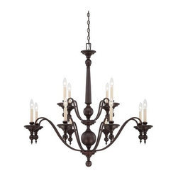 Savoy House - Savoy House 1-1728-12 Sutton Place Twelve Light Two Tier Chandelier - Specifications: