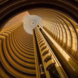 Magic Murals - Hotel Atrium and Elevator Skylight Wallpaper Wall Mural - Self-Adhesive - Multip - Hotel Atrium and Elevator Skylight Wall Mural