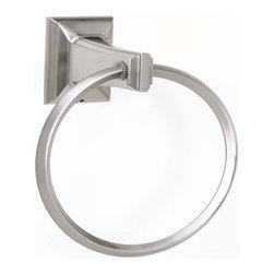 Alno Inc. - Alno Creations Geometric 6 Inch Towel Ring Polished Antique A7940-Pa - Alno Creations Geometric 6 Inch Towel Ring Polished Antique A7940-Pa