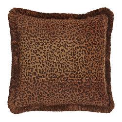 "Horchow - Dakari 18"" Java Pillow - MULTI COLORS - Dakari 18"" Java PillowDetailsAnimal-print decorative pillow.Handcrafted of rayon/polyester.Brush-fringe finish.18""Sq.Made in the USA."