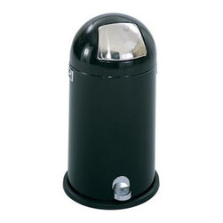 Safco 12 Gallon Dome Step-On Receptacle - About Safco ProductsSafco products were specifically developed to meet the changing needs of the business world, offering real design without great expense. Each product is designed to fit the needs of individuals and the way they work, by enhancing comfort and meeting the modern needs of organization in the workplace. These products encourage work-area efficiency and ultimately, work-life efficiency: from schools and universities, to hospitals and clinics, from small offices and businesses to corporations and large institutions, airports, restaurants, and malls. Safco continues to offer new colors, new styles, and new solutions according to market trends and the ever-changing needs of business life.